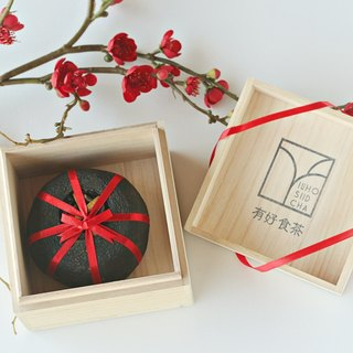 [There is a good tea] Taiwan's only pressing tea:: Sour citrus tea paulownia wooden box gift box