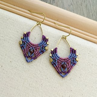Misssheep-A109 - Bohemian Ethnic Style South American Wavy Line Braided Earrings (Hook/Ear clip)