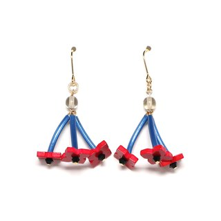 rumba - red bead earrings / earrings
