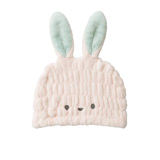 CB Japan Children's Animal Model Microfiber Shower Cap - White Rabbit Powder