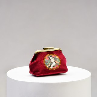 CoinQian Jinhua purse red purse retro red gold mouth
