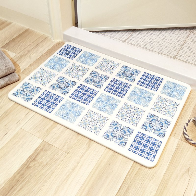 [MBM] mix and match rural tiles L water-washed algae land mat foot mat
