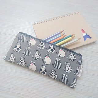Pencil case stationery cotton linen pen bag tool bag storage bag cat