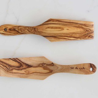Olive wood Cest bon Heart Cake / Pizza Server - Rectangular