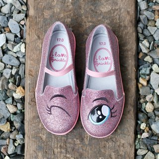 Eliza pink sequins blinking loafers (kids)