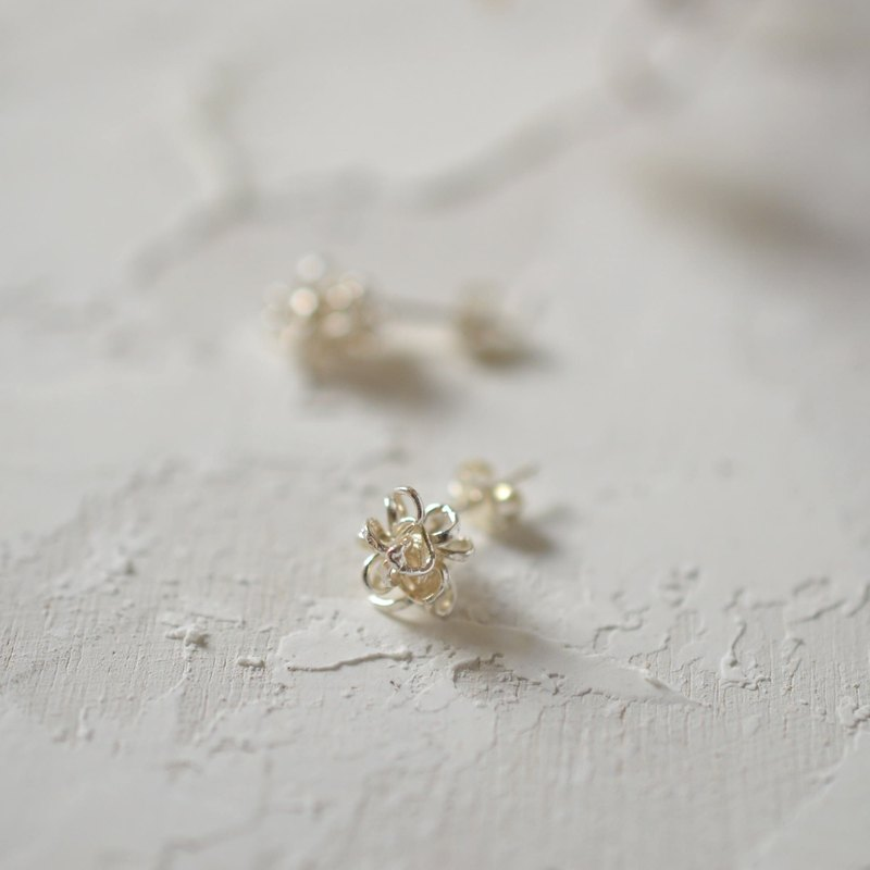 """amami"" star candy silver pierced earrings"
