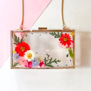 押花 晚宴 壓克力包 Pressed Flowers Dinner Clutch