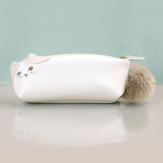 White Hachieire Cat Pen Case (Order Production)