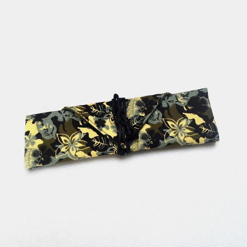 秋葉餐具包/筆收納袋 餐具套 手作 簡單 帆布 收納 環保 方便