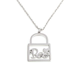 Custom name in lock shape pendant