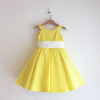 Bright Yellow Satin Dress