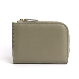 韓國Socharming-Tidy Leather Wallet-Gray