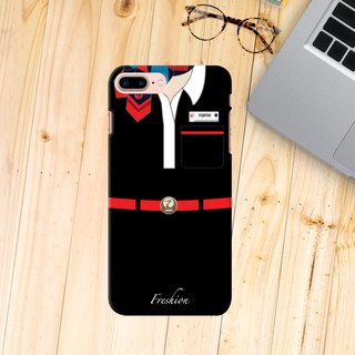 Japan Airlines JAL Air Hostess Fight Attendant Purser Black iPhone Samsung Case