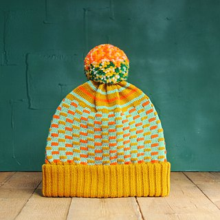 Mustard Circus Detachable PomPom Beanie Hat