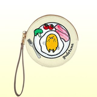 Egg yolk towel embroidered round ticket card wallet bag bag bag bag