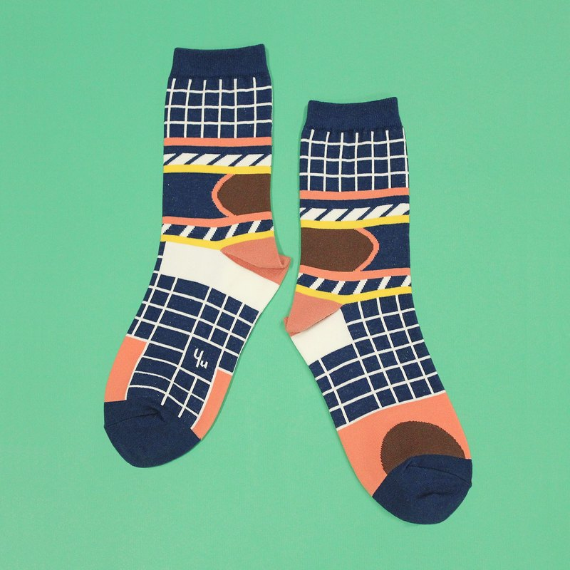 Silo Navy Unisex Crew Socks | mens socks | womens socks | comfortable socks