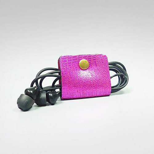 [ANITA] Workshop manual hand-made leather eye-catching brightly colored pink texture Hub - Specials
