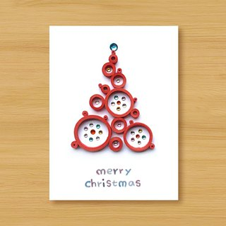 Handmade Roll Paper Christmas Card _ Blessings from afar ‧ Dream Bubble Christmas Tree _E