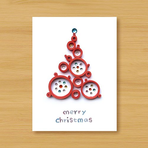 Hand-rolled paper card three-dimensional _ from afar blessing ‧ Dream Bubble Christmas tree _E ..... Christmas card, Christmas, Christmas tree