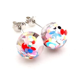 「OMYWAY」Handmade Water - Glass Globe - Earrings - Drop Earrings - Drop Clip on Earrings