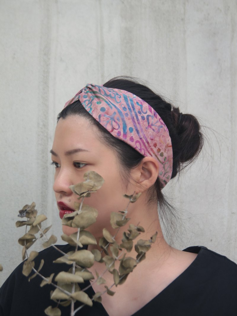 Road Japanese handmade batik handmade cross elastic hair band