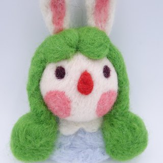 Wool character brooch