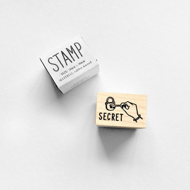 KNOOP WORKS Wooden Stamp (SECRET)