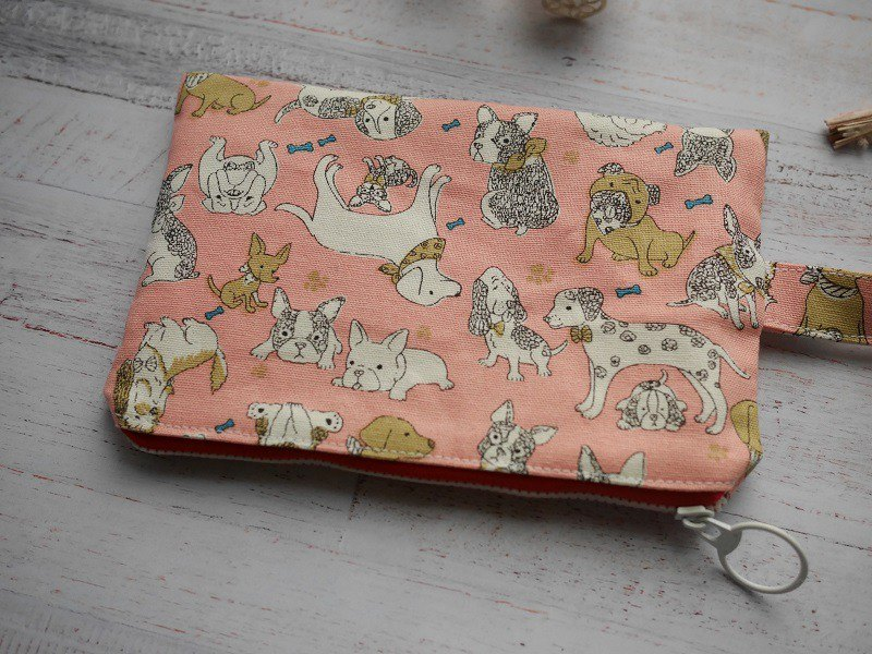 Dog big collection cosmetic bag.
