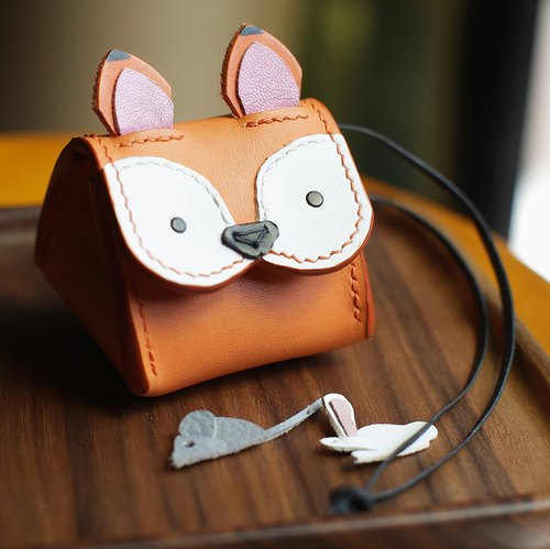 Imperial rice ball small fox animal three-dimensional purse