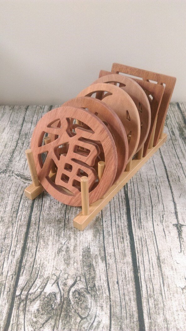 Increased price purchase - wood wood pot holder (you need to order a six-piece combination to purchase 喔!)