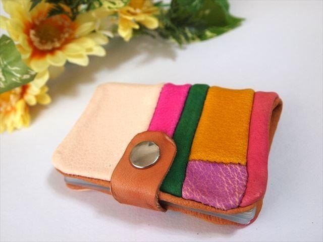 [Pig leather soft card case] by color leather 1532004
