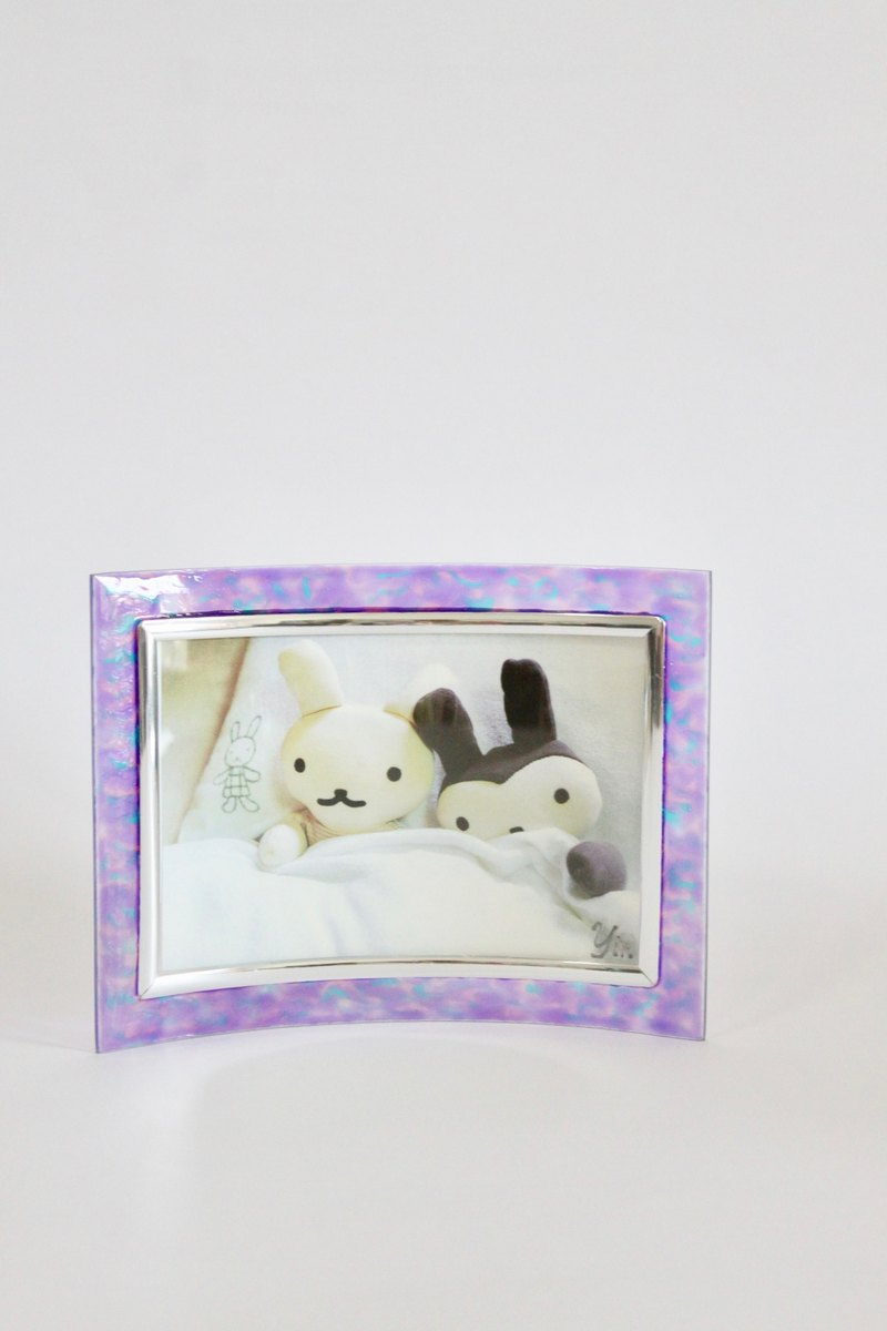 Purple Romance │ hand-painted mobile art customized photo frame gift