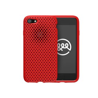 AndMesh iPhone 7/8 Japan QQ network soft crash protection cover - red (4571384954600)