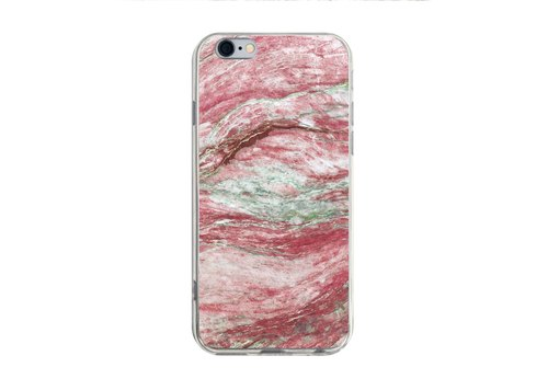 Red Marble Pattern - iPhone X 8 7 6s Plus 5s Samsung S7 S8 S9 Case