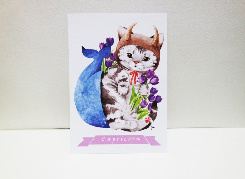 Capricorn Cat Postcards