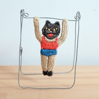 by.dorisliu  Little Gym Boy and Friends  Captain Black Cat Toy/ Brooch