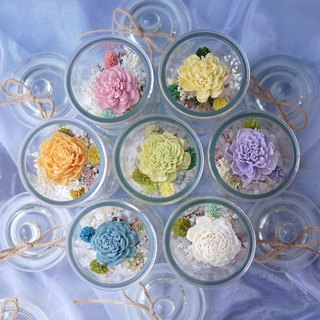 Anniversary Limited Edition-Rainbow Sun Rose Covered Glass Bottle Dry Flower (Buy 3 Please Select Home Delivery)