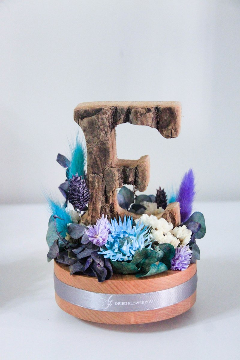 AF dry flower English alphabet music box - purple line