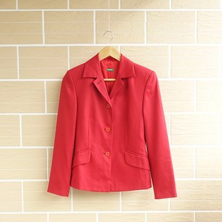 │Slowly│ Christmas red - vintage suit wool coat │ vintage. Vintage.