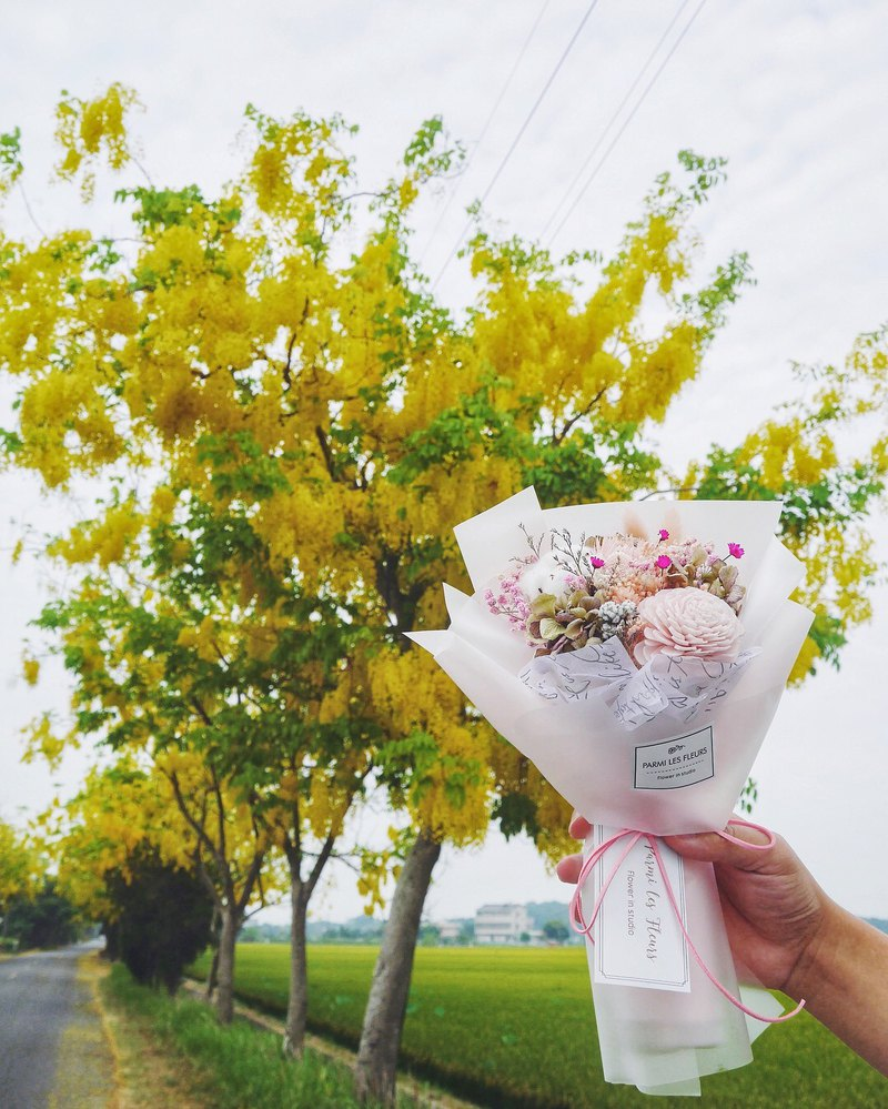 Limited / 24 hours shipping / stock / dry flower bouquet / graduation bouquet /