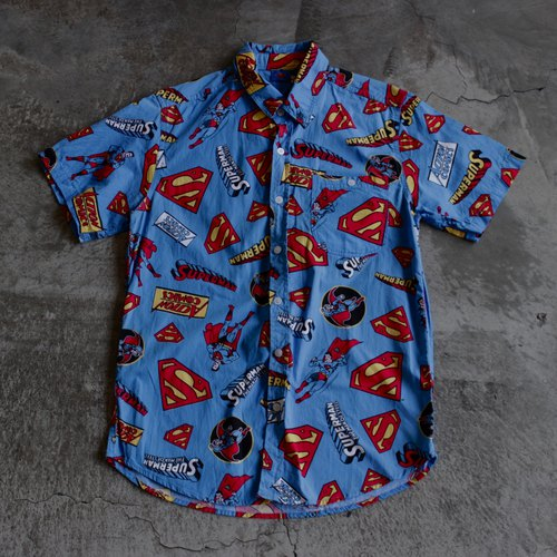 Superman print shirt