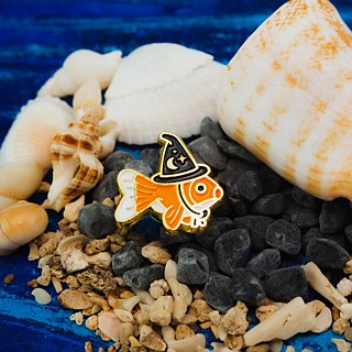 Goldfish Wizard Enamel Pin