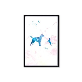 HomePlus Decorative Frame BEST COMPANION-DOG Black frame 63x43cm Homedecor