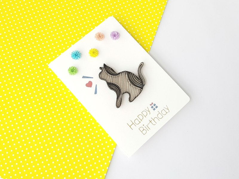 Hand made decorative cards-Cat