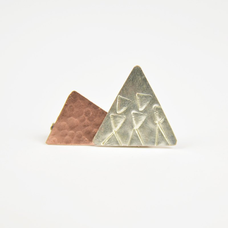 White red copper pins - fair trade
