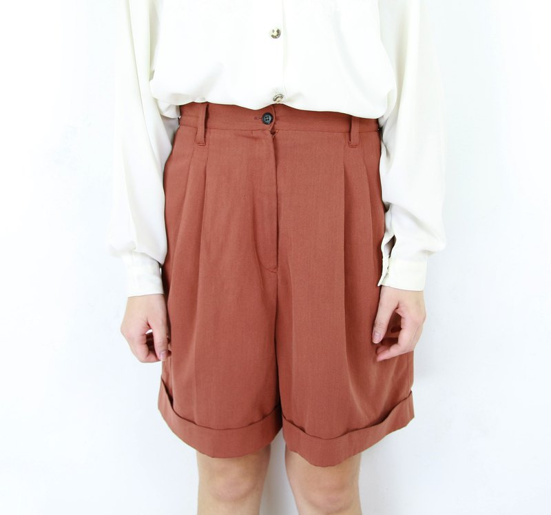 Back to Green:: Comfortable Pants Novel Brick Coffee //vintage culottes//