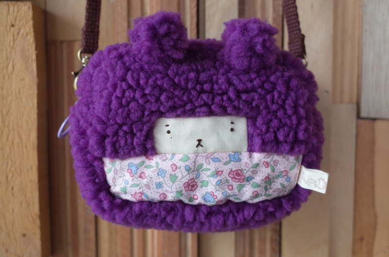 Duo small rabbit small package - grape hair -199 pink flowers