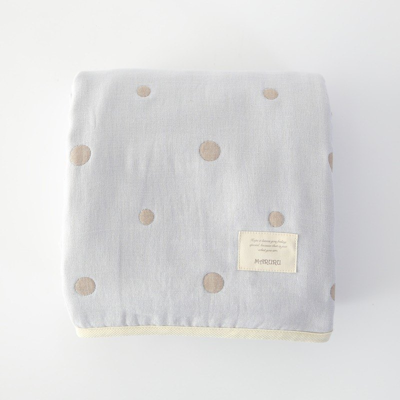 MARURU Five-layer gauze baby blanket  (L) Baby blue (Made in Japan)
