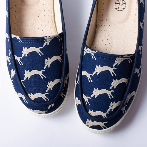 Sisters Day | Blue Moonlight Cat Cat Shoes. Good Wear. Office Workers. Leather Insole