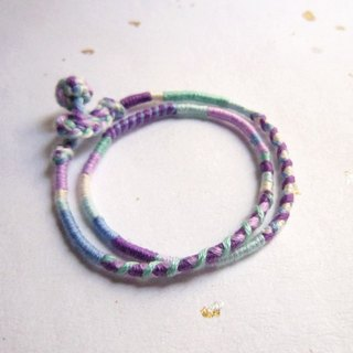 Adventurer double circle segment winding rotating lucky rope braided bracelet (optional color)